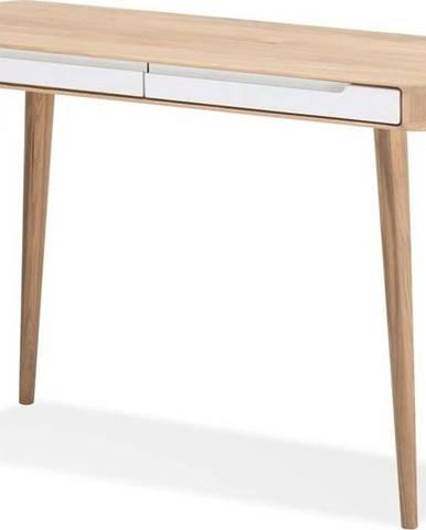 Konzolový stolek z dubového dřeva Gazzda Ena