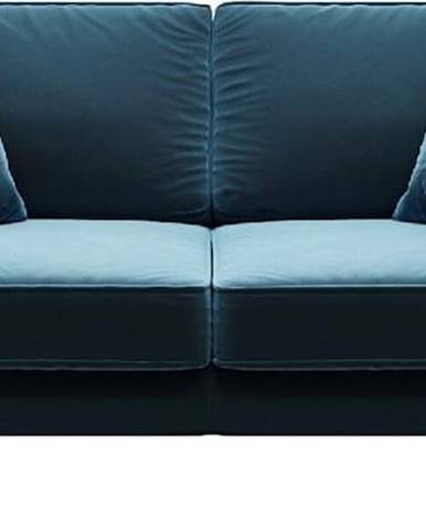 Modrá sametová pohovka MESONICA Kobo, 167 cm