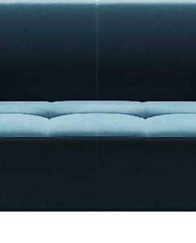 Modrá sametová pohovka MESONICA Toro, 217 cm