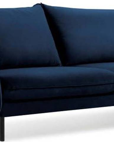 Modrá sametová pohovka Cosmopolitan Design Vienna, 200 cm