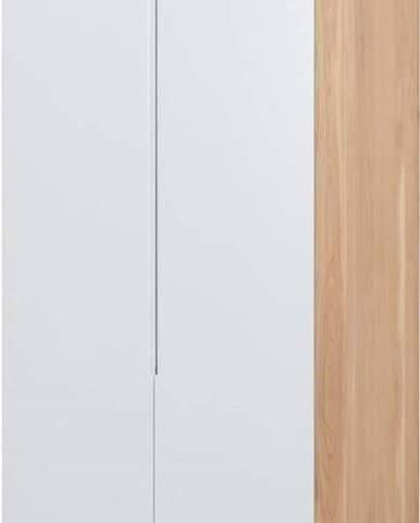 Modulový díl skříně s konstrukcí z masivního dubového dřeva se 2 zásuvkami Gazzda Ena, připevnění vpravo