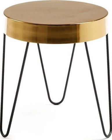 Odkládací stolek ve zlaté barvě La Forma Juvenil, výška 45 cm