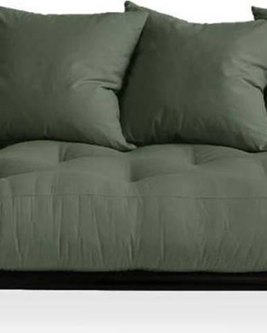 Pohovka Karup Design Senza Black/Olive Green