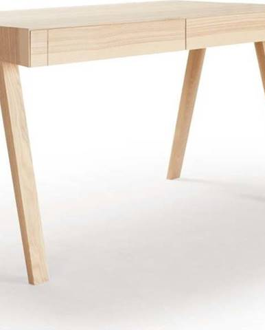 Psací stůl z jasanového dřeva EMKO 4.9, 140 x 70 cm