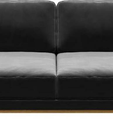 Tmavě šedá sametová pohovka MESONICA Musso, 173 cm