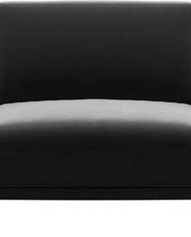 Tmavě šedá sametová pohovka MESONICA Puzzo, 240 cm