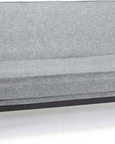 Šedá rozkládací pohovka se snímatelným potahem Innovation Mimer Twist Granite