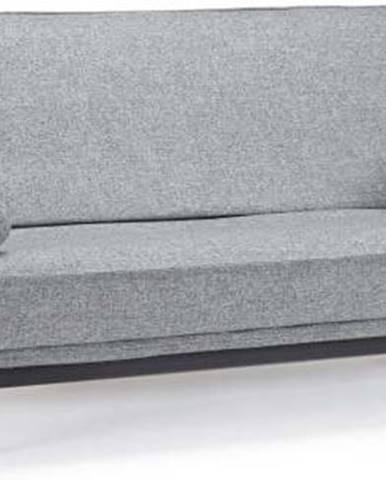Šedá rozkládací pohovka se snímatelným potahem Innovation Minimum Twisted Granite