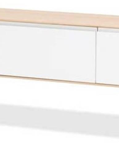 Televizní stolek z dubového dřeva Gazzda Ena, 225x55x45cm