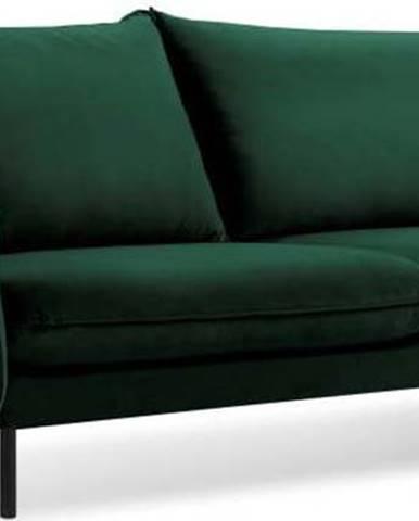 Zelená sametová pohovka Cosmopolitan Design Vienna, 200 cm
