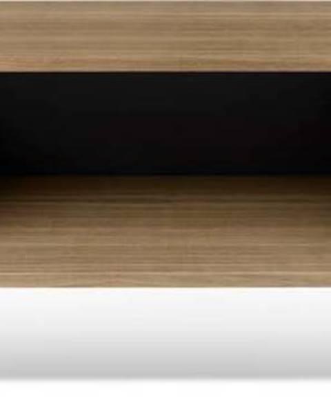 TemaHome TV stolek v dekoru ořechového dřeva s černými detaily TemaHome Dixie