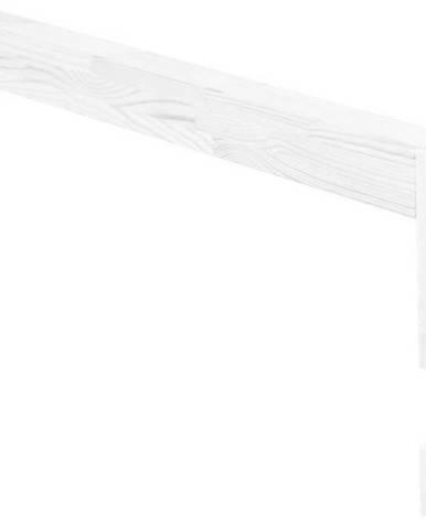 Bílá bočnice z smrkového dřeva k posteli Benlemi Safety,délka90cm