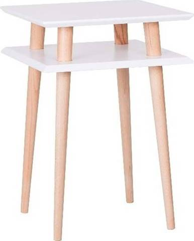 Bílý odkládací stolek Ragaba Square, 43x43cm