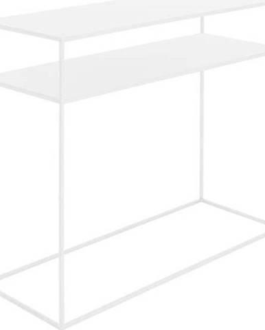 Bílý konzolový kovový stůl s policí Custom Form Tensio, 100 x 35 cm
