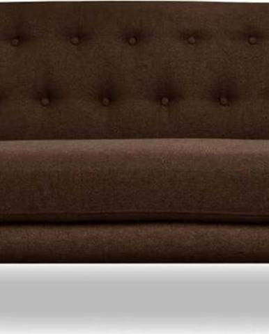 Hnědá pohovka Cosmopolitan design London, 162 cm