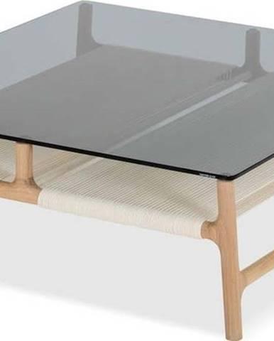 Konferenční stolek z masivního dubového dřeva Gazzda Fawn, 90 x 90cm