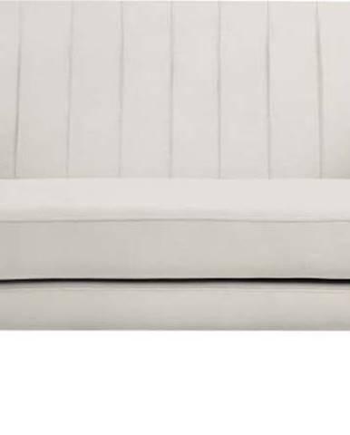 Krémová sametová pohovka Mazzini Sofas Benito, 158 cm