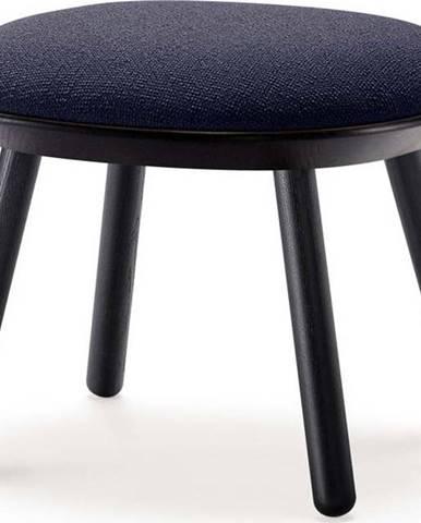 Modro-černá vlněná podnožka EMKO Naïve