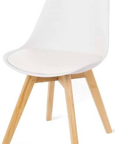 Sada 2 bílých židlí s bukovými nohami loomi.design Retro