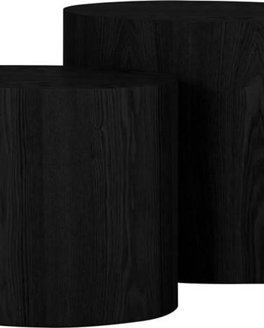 Sada 2 odkládacích černých stolků Canett Odnes