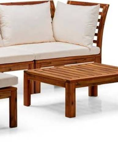 Set béžového zahradního nábytku z akáciového dřeva Le Bonom Chill