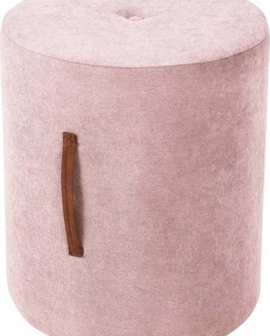 Světle růžový puf Kooko Home Motion, ø40cm