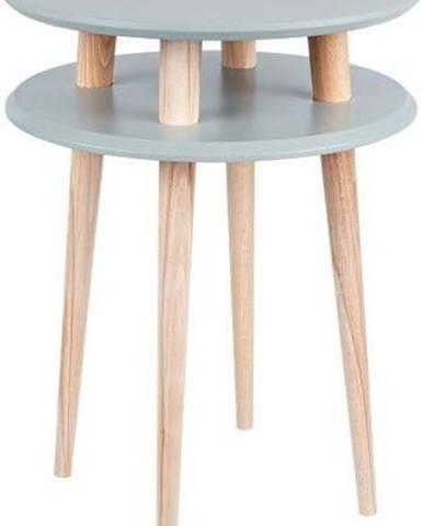 Tmavě šedý odkládací stolek Ragaba UFO,Ø45 cm