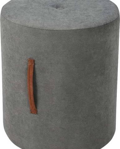 Tmavě šedý puf Kooko Home Motion, ø40cm