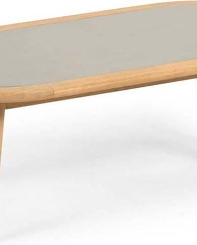 Zahradní stolek z eukalyptového dřeva s betonovou deskou La Forma Glynis Nina