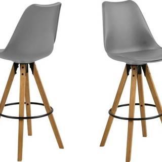 Sada 2 šedých barových židlí Actona Dima