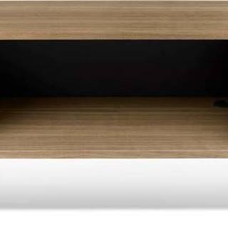 TV stolek v dekoru ořechového dřeva s černými detaily TemaHome Dixie