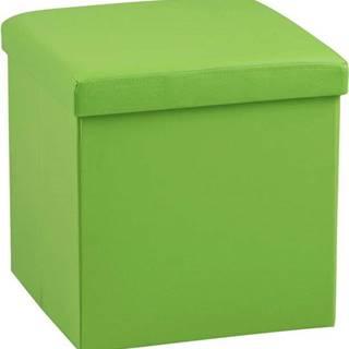 Zelený puf s úložným prostorem Actona Sada