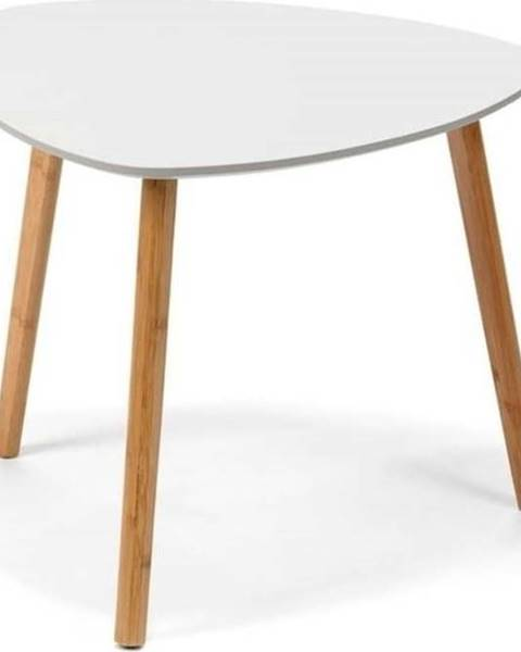 loomi.design Bílý odkládací stolek loomi.design Viby, 40x40cm