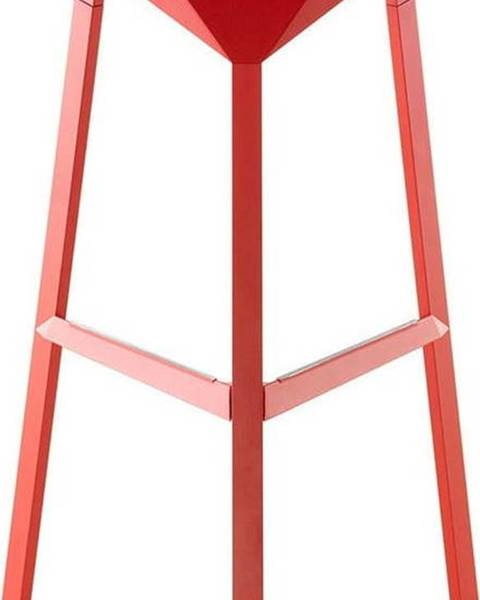 Magis Červená barová židle Magis Officina, výška74cm