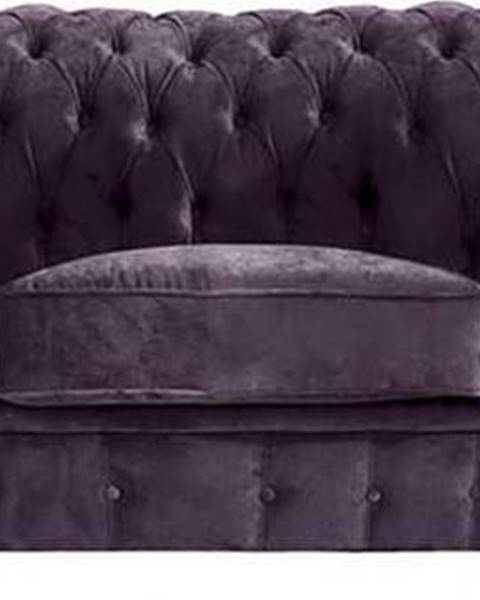 Max Winzer Fialová pohovka Max Winzer Norwin Velvet, 200 cm