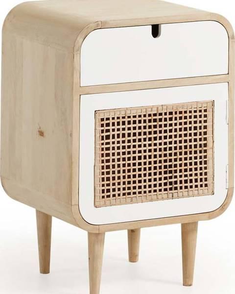 La Forma Noční stolek z mangového dřeva La Forma Gerald, 40x30cm