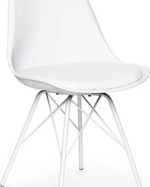 loomi.design Sada 2 bílých židlí s bílým podnožím z kovu loomi.design Eco