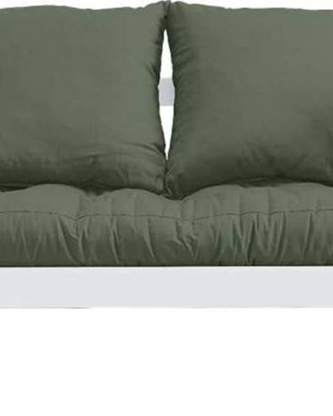 Karup Design Variabilní pohovka Karup Design Beat White/Olive Green