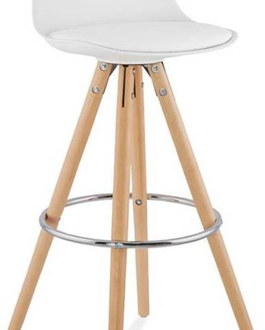 Bílá barová židle Kokoon Anau, výškasedu74cm
