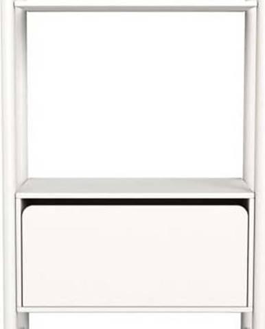 Bílá dětská komoda Flexa Shelfie, výška 131.6 cm