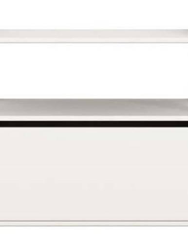 Bílá dětská komoda Flexa Shelfie, výška 74 cm