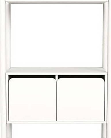 Bílá dětská skříňka Flexa Shelfie, výška 131.6 cm