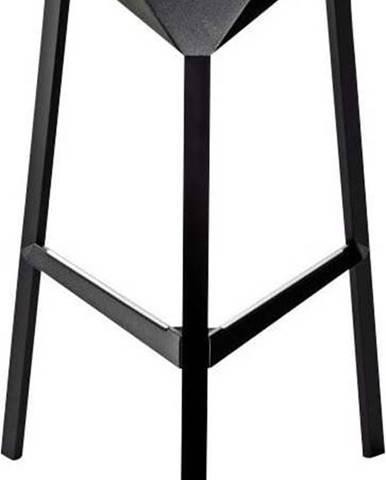 Černá barová židle Magis Officina, výška84cm
