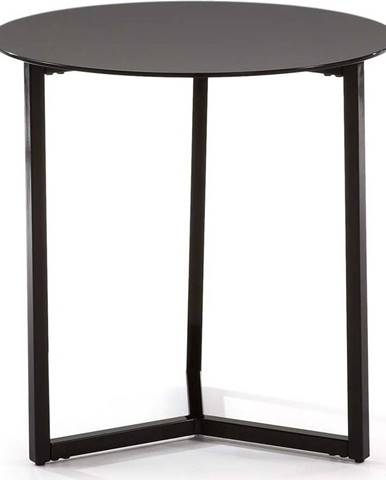 Černý odkládací stolek La Forma Marae, ⌀50cm