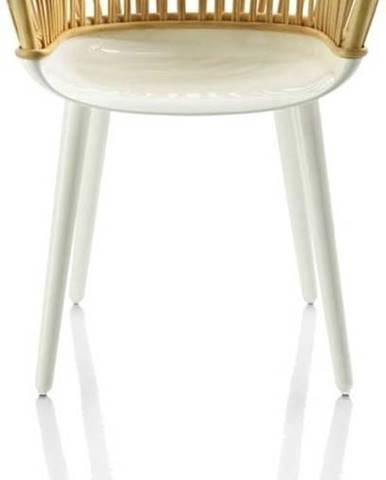 Hnědo-bílá jídelní židle Magis Cyborg