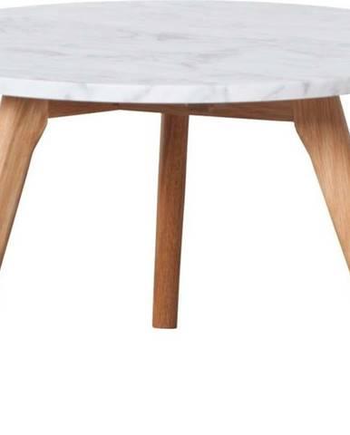 Odkládací stolek s deskou v dekoru kamene Zuiver, ⌀50cm
