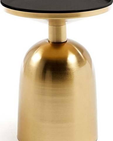 Odkládací stolek ve zlaté barvě La Forma Physic, ø 37cm