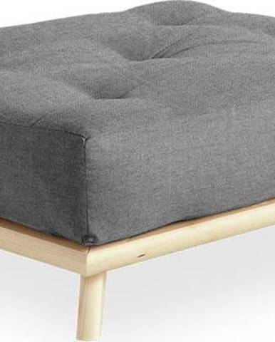 Podnožka Karup Design Senza Natural Clear/Marble Grey