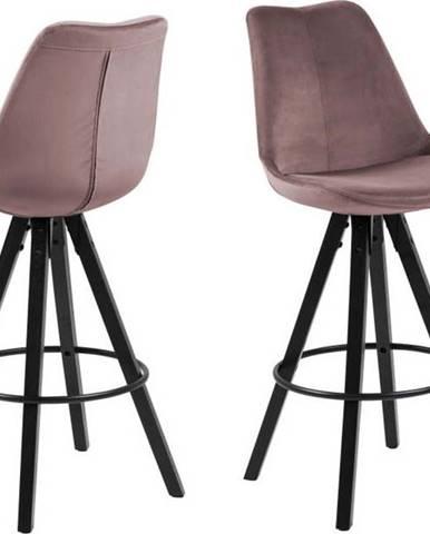 Pudrově růžová barová židle Actona Dima