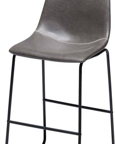 Sada 2 šedých barových židlí Furnhouse Indiana